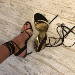 Used DOLCE & GABBANA ankle tie sandals.